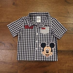 Mickey Mouse Button Shirt